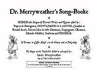 Dr Merryweather's Song-booke